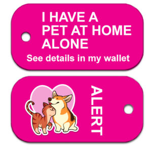 Pet at Home Alert Tag